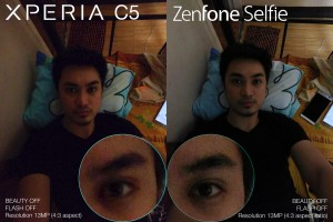 xperia c5 ultra vs zenfone selfie camera review