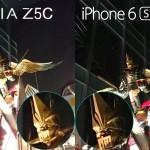 iphone 6s vs xperia z5 compact camera night shot