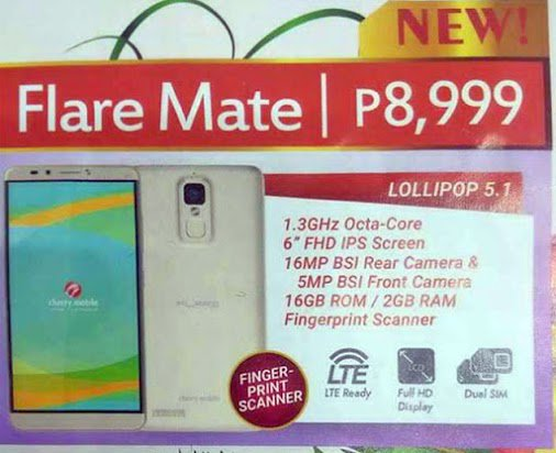 cherry mobile flare mate specs philippines news