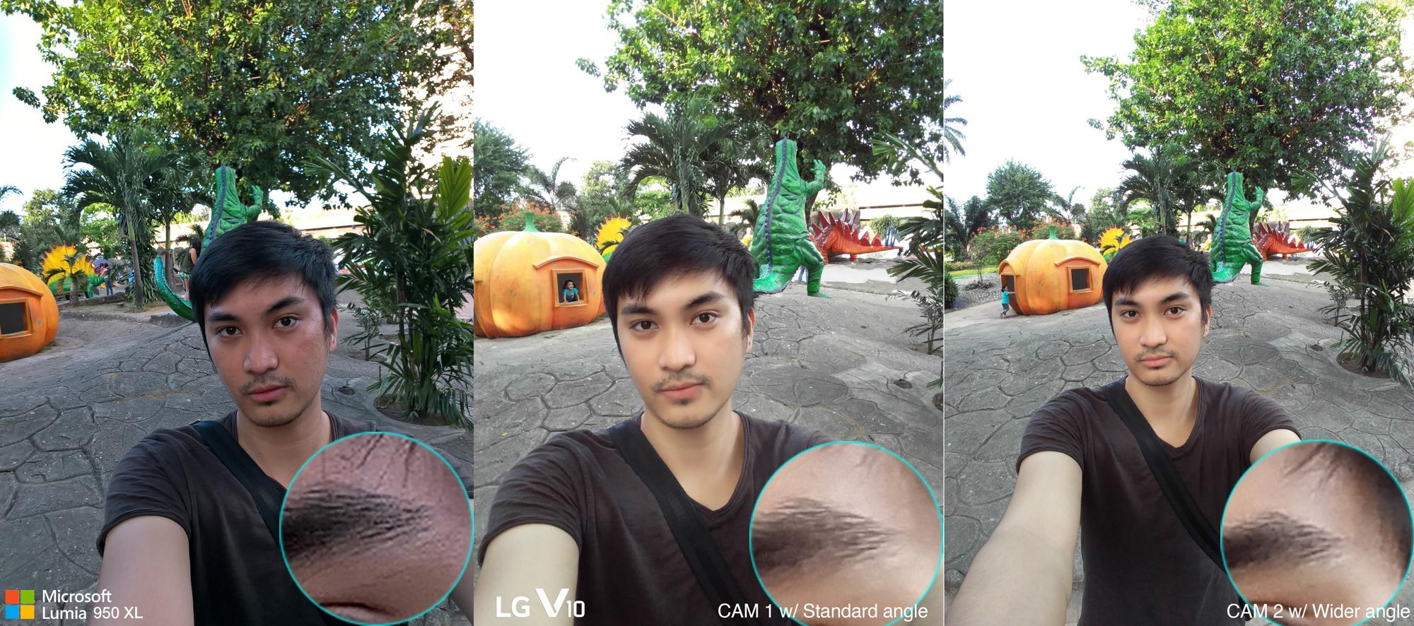selfie wide angle lens lg v10 vs lumia 950 xl camera
