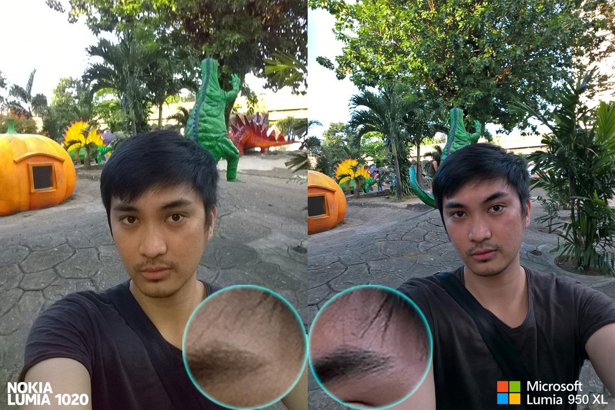 selfie front facing Lumia 950 XL vs 1020 camera comparison review1