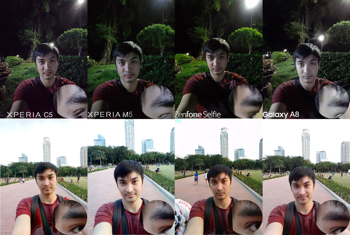 Selfie Front Camera Battle Xperia M5 C5 Ultra Sony Samsung Galaxy A8 Asus Zenfone Selfie