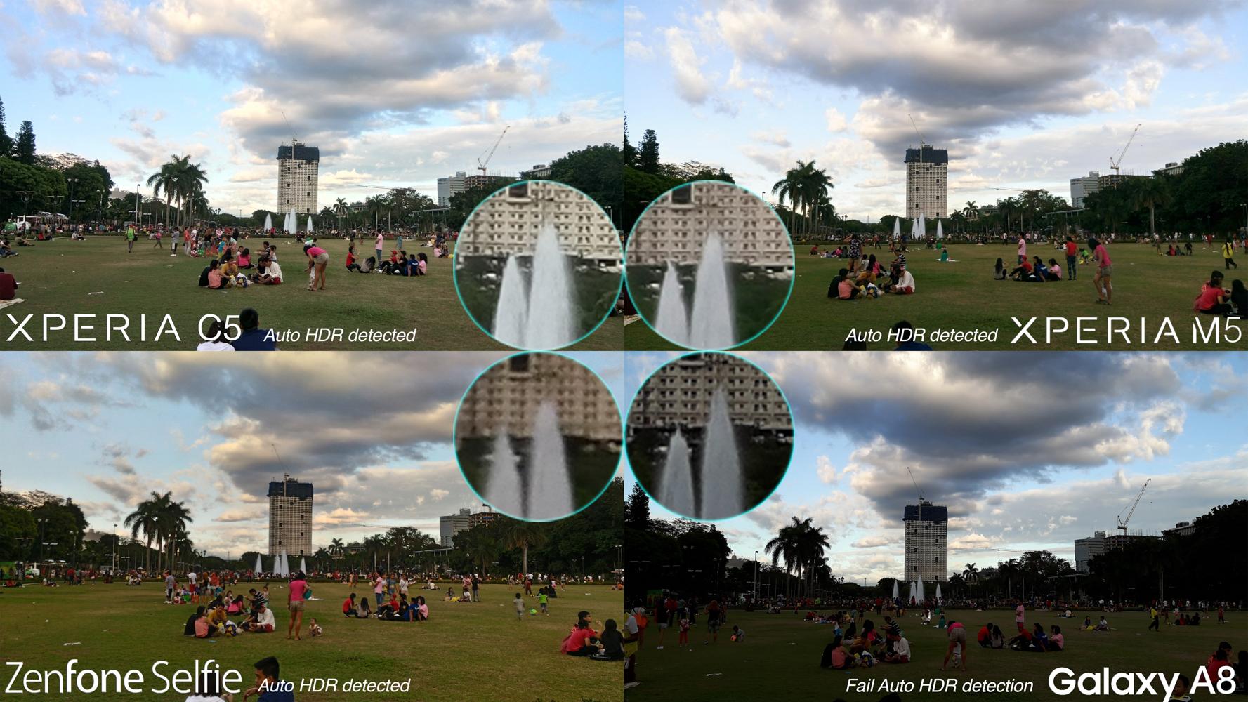 HDR Daylight best mid-range camera battle review Galaxy A8 Xperia m5 C5 Ultra Zenfone Selfie