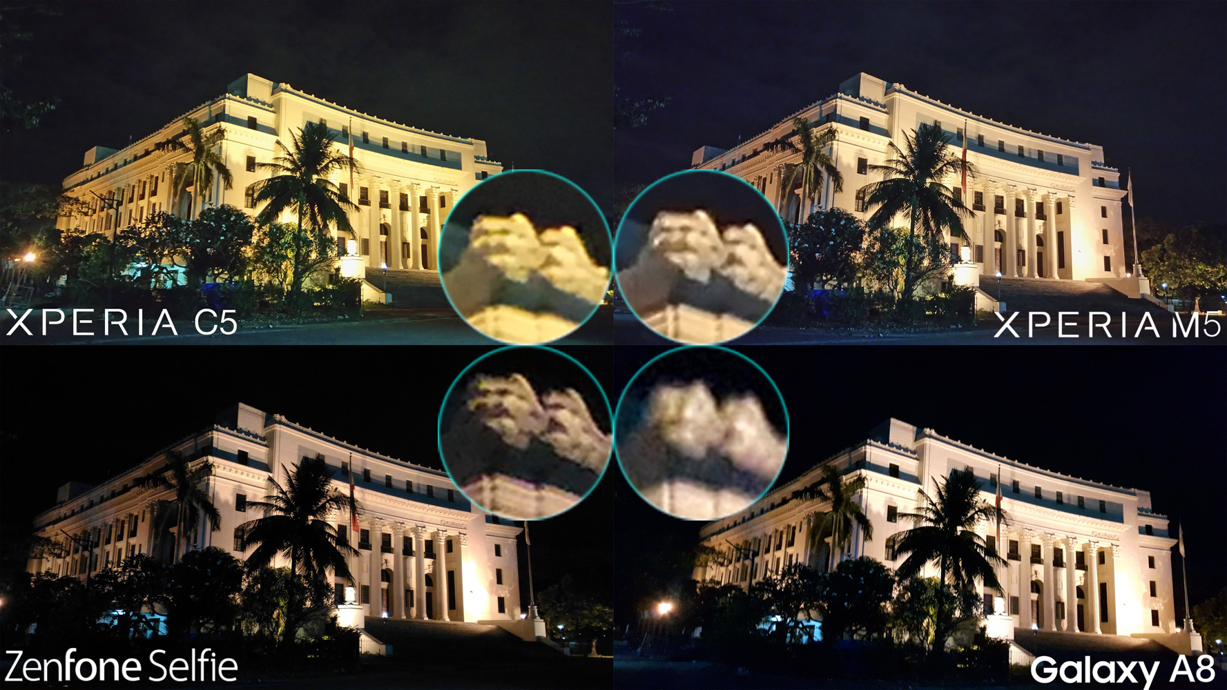 Night low light best mid-range camera battle review Galaxy A8 Xperia m5 C5 Ultra Zenfone Selfie
