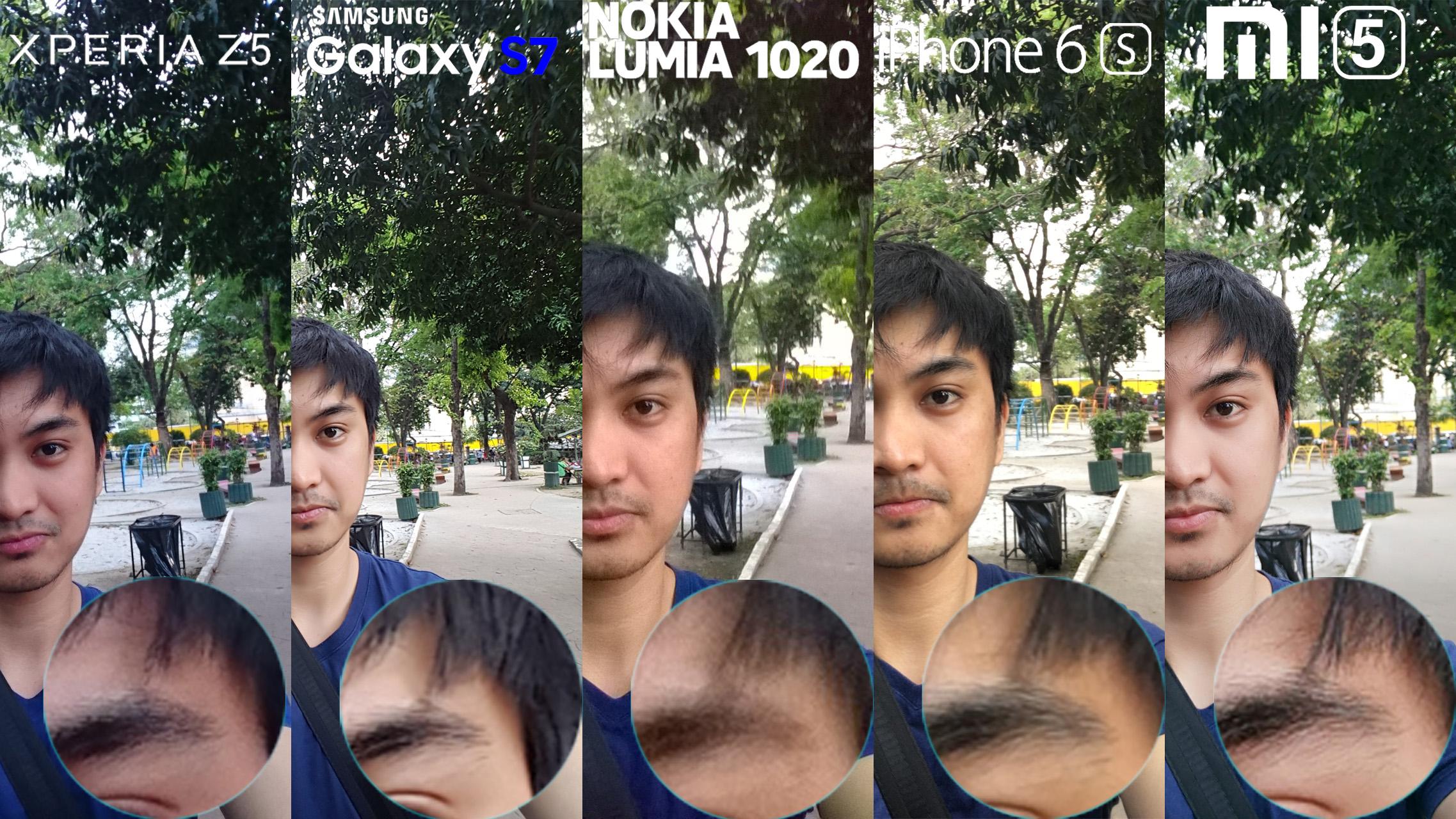 Galaxy S7 Xperia Z5 Lumia 1020 iphone 6s Xiaomi Mi 5 Camera Review Comaprison 4