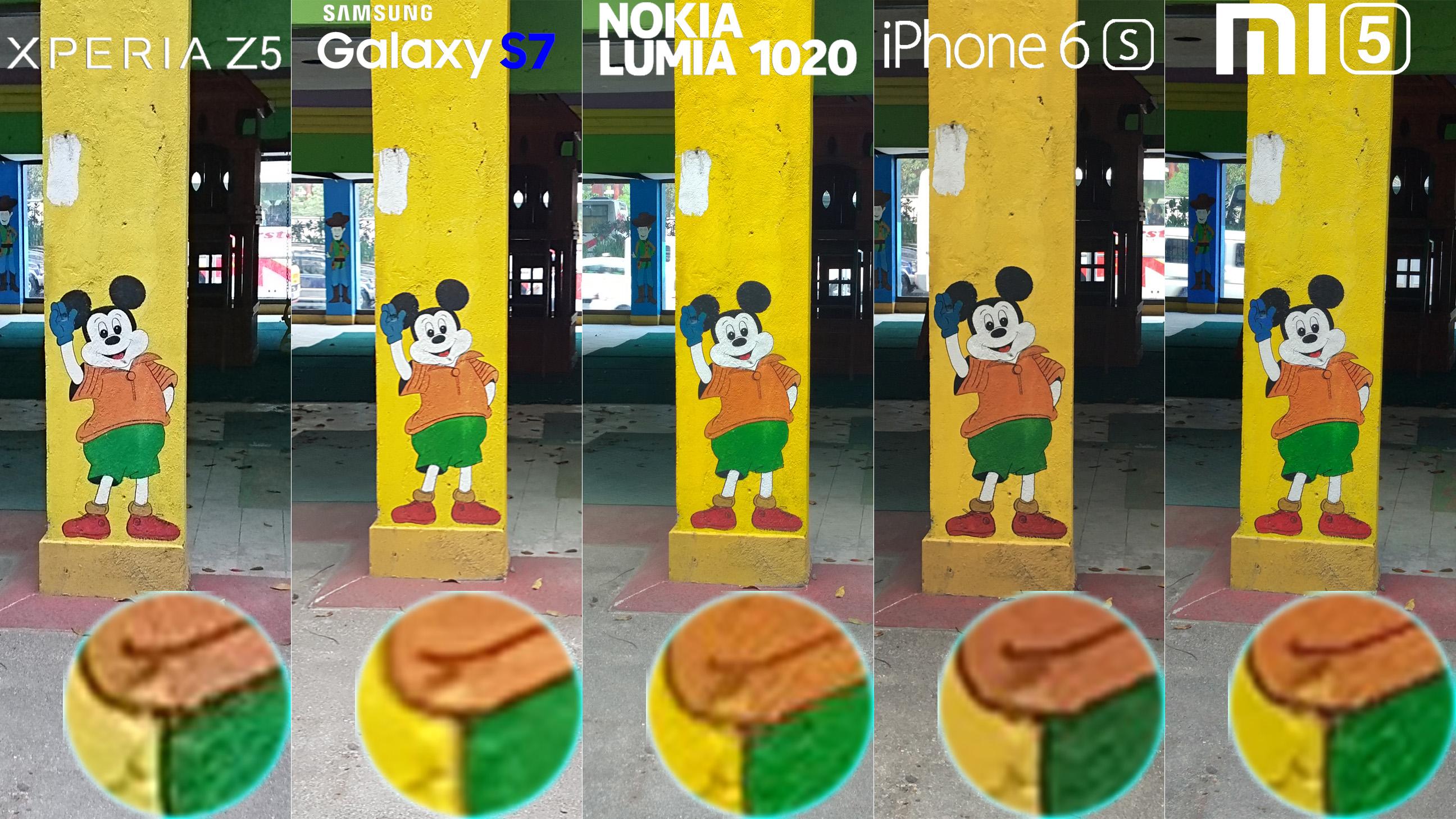 Galaxy S7 Xperia Z5 Lumia 1020 iphone 6s Xiaomi Mi 5 Camera Review Comaprison 5