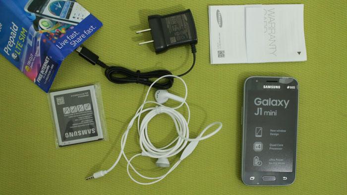 Box content unboxing Samsung Galaxy J1 Mini Review PH2