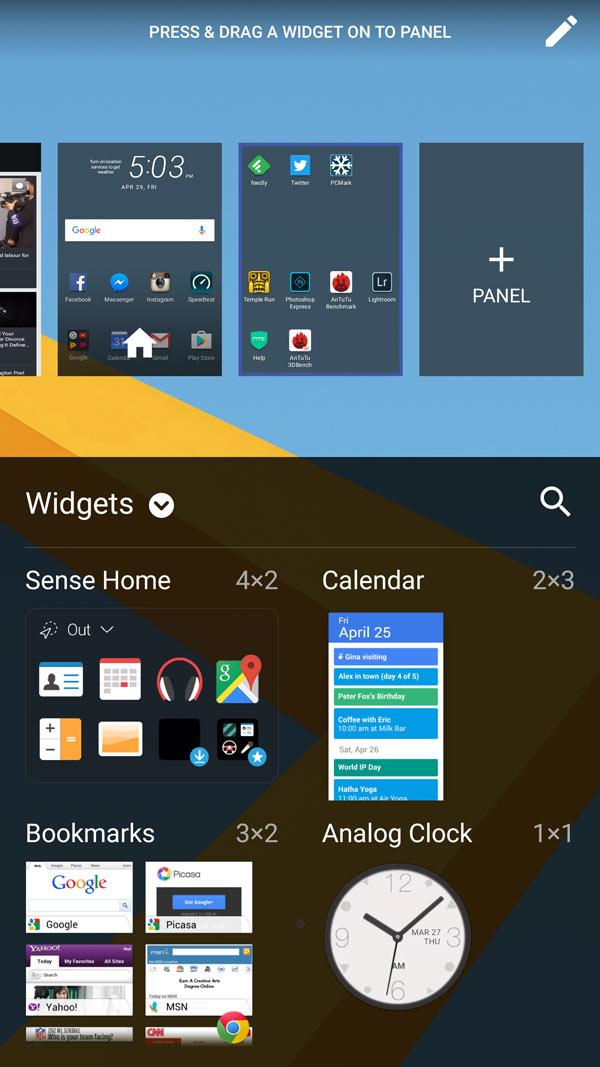 HTC 10 OS Android 6 Marshamallow Sense UI 10