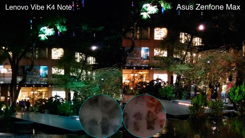 Lenovo K4 Note VS Zenfone Max camera sample night philippines