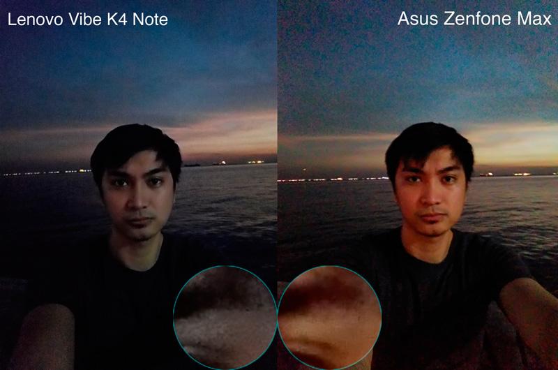 Lenovo Vibe K4 Note VS Zenfone max selfie night sample philippines