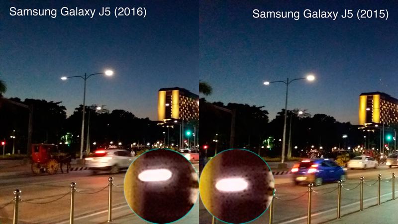 samsung galaxy j5 2016 vs 2015 camera sample night sample