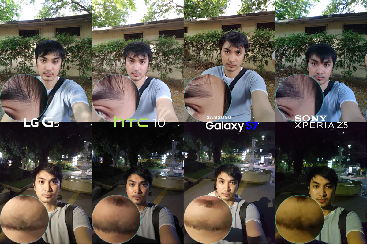 Selfie shot LG G5 vs HTC 10 vs Galaxy S7 vs Xperia Z5 Best Camera Full Comparison