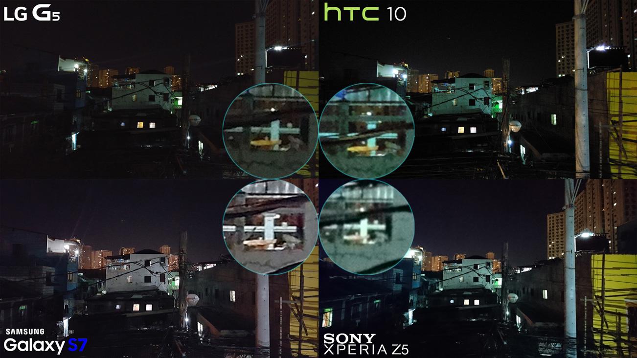 Low light night shot LG G5 vs HTC 10 vs Galaxy S7 vs Xperia Z5 Best Camera Full Comparison