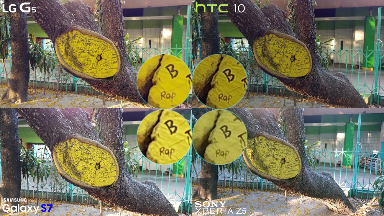 No HDR LG G5 vs HTC 10 vs Galaxy S7 vs Xperia Z5 Camera Full Comparison