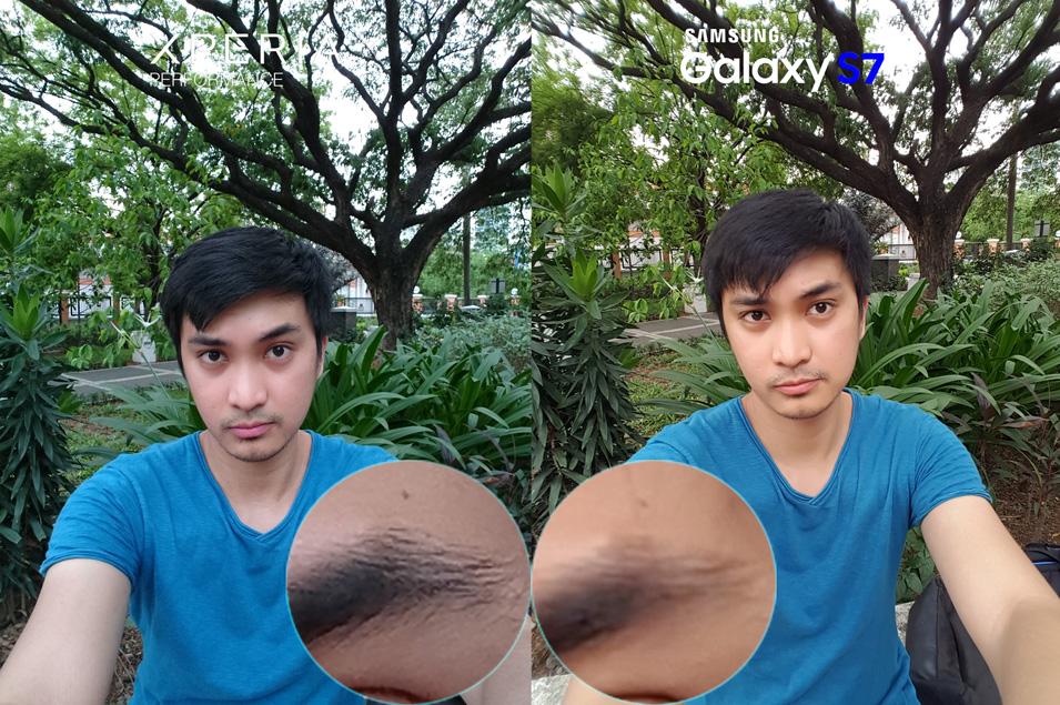 Selfie Sony Xperia X Performance Camera Review vs Samsung Galaxy S7 11