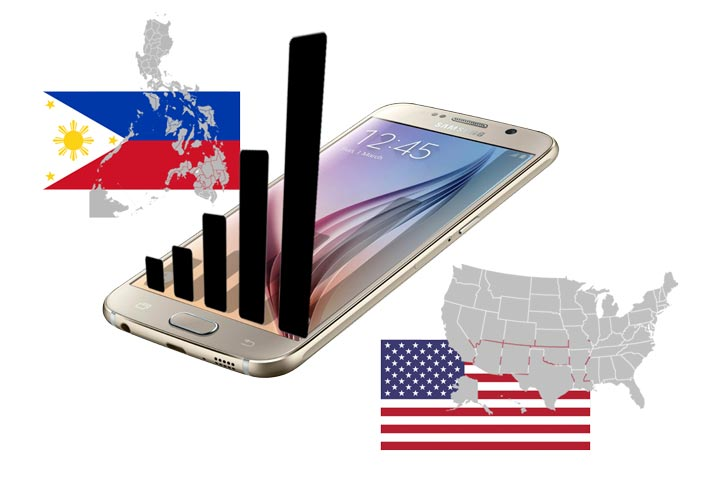 phones philippines to usa network compatible