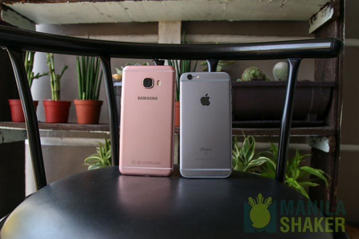 Samsung Galaxy C5 C7 Review vs iPhone 6s Comparison 1