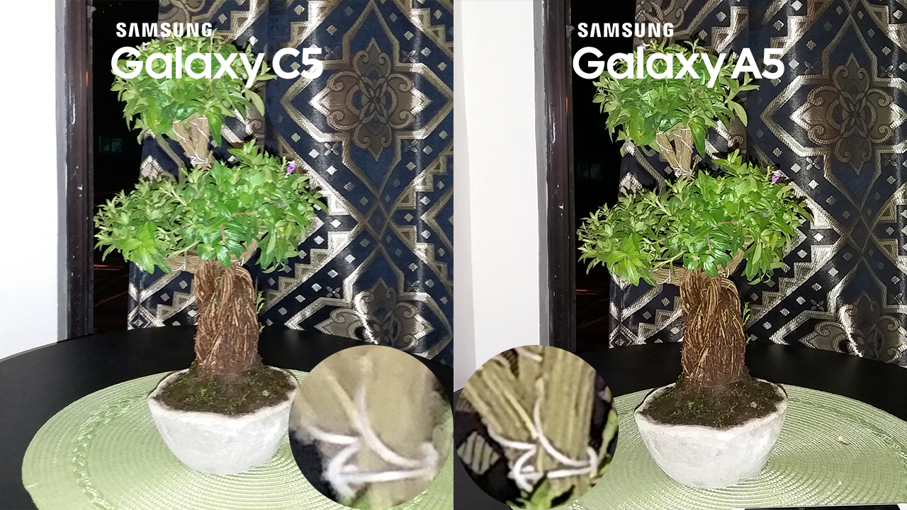 Samsung Galaxy C5 vs Galaxy A5 2016 Camera Review 4 with flash night