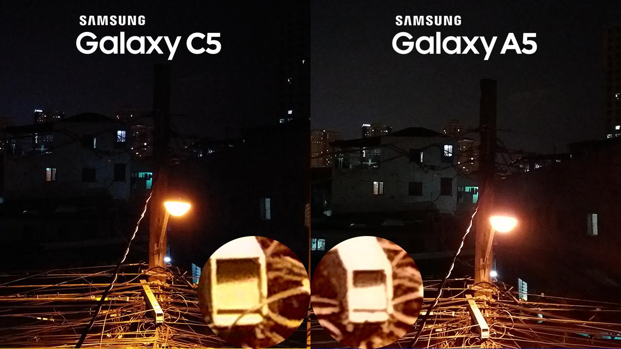 Samsung Galaxy C5 vs Galaxy A5 2016 Camera Review 5 Night Shooting Low Light