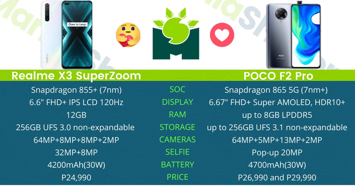 realme-x3-superzoom-vs-poco-f2-pro-specs-comparison-the-best-flagship-killer-in-2020
