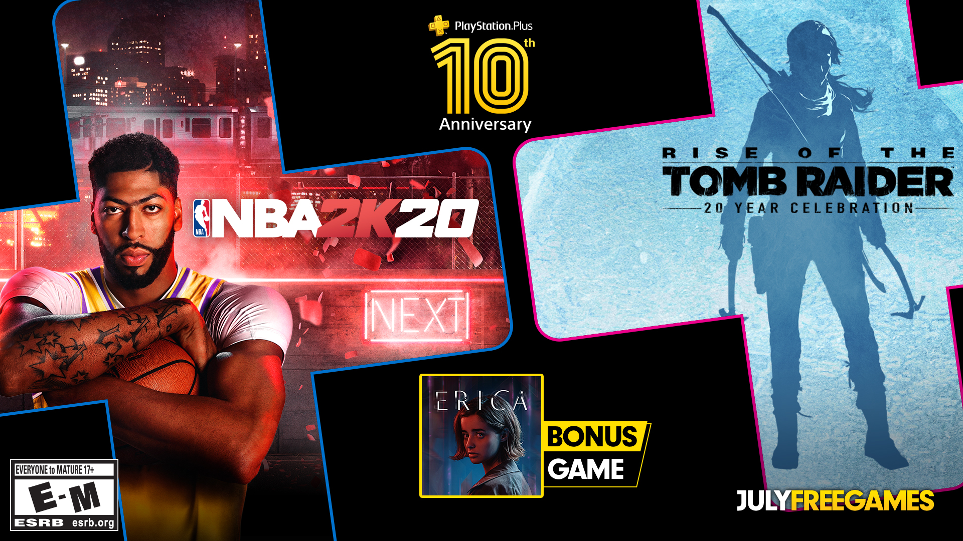 PS Plus Free Games July 2020