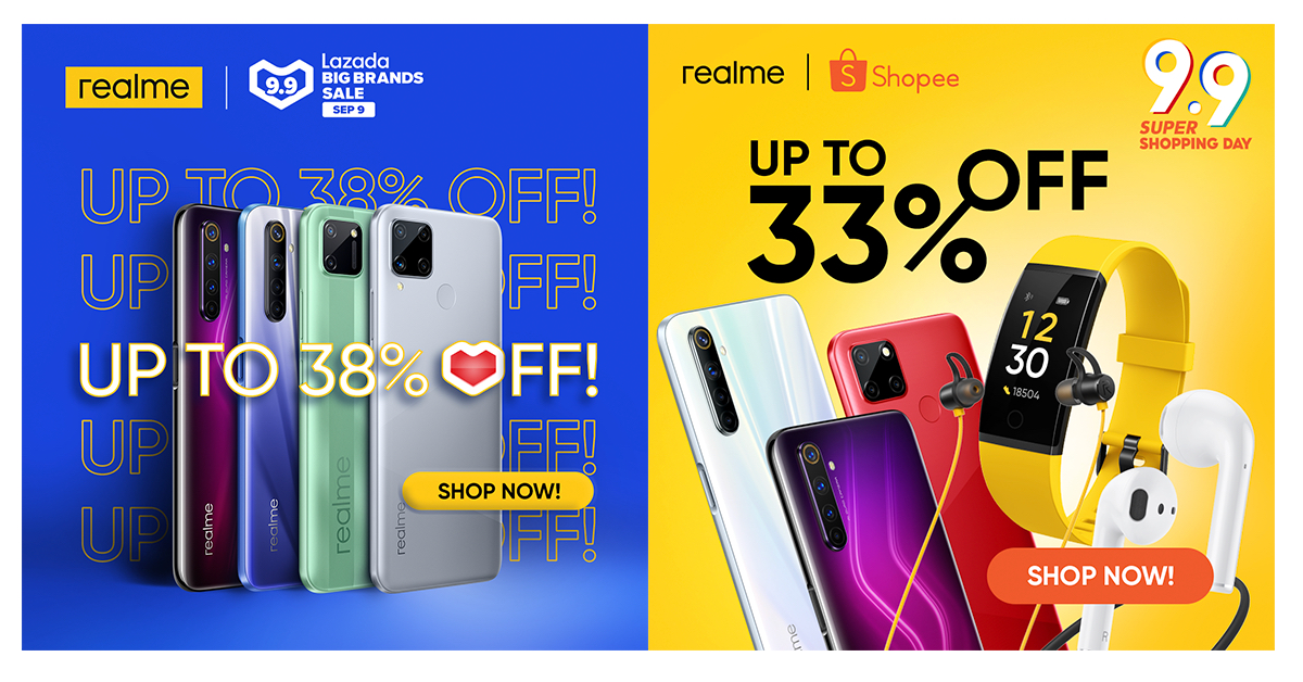 realme-lazada-shopee-9-9-sale-every-discounted-product-and-discount-code