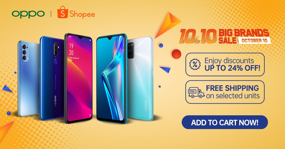 oppo-shopee-10-10-big-brands-sale-up-to-24-off-on-phones-and-accessories