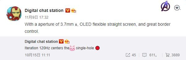 Redmi K40 Details Leak
