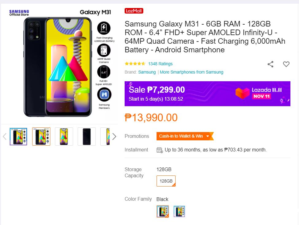 samsung-galaxy-m31-with-6000mah-super-amoled-down-to-php7299-only