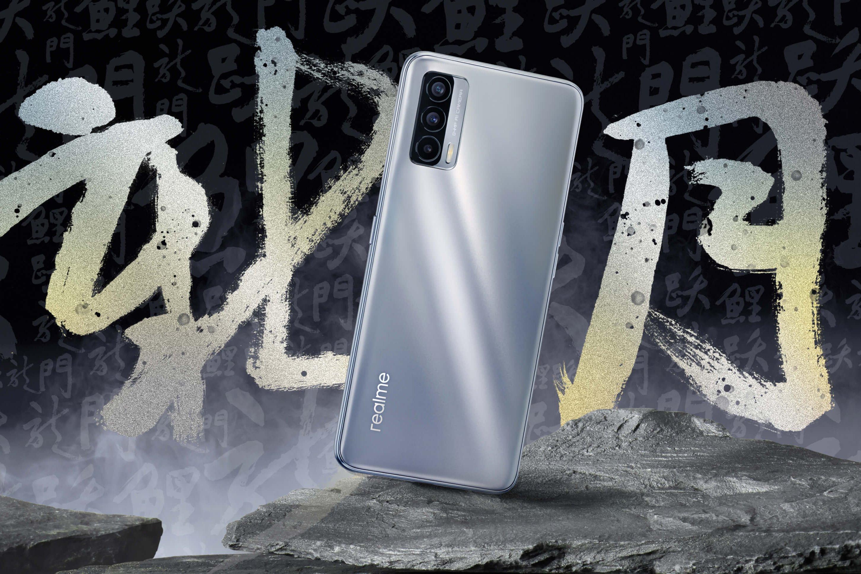 realme V15 5G Crescent Silver Featured